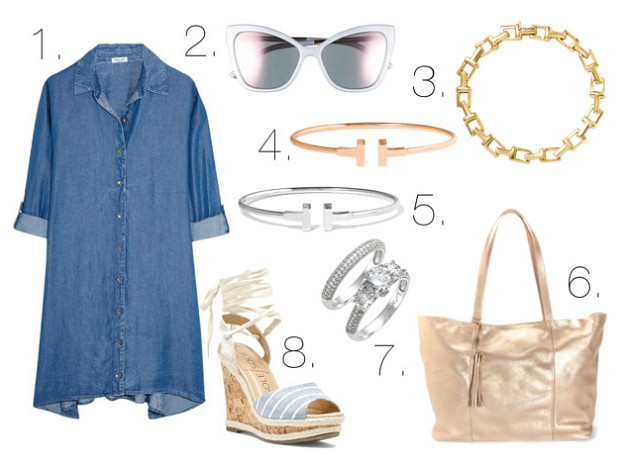 Summer Chic: Denim in Hot Weather | Denim Dress | Mel Boteri Style Guide