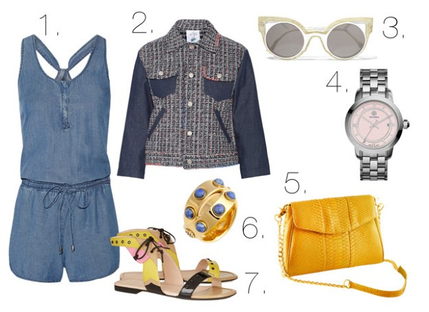 Summer Chic: Denim in Hot Weather | Denim Romper | Mel Boteri Style Guide