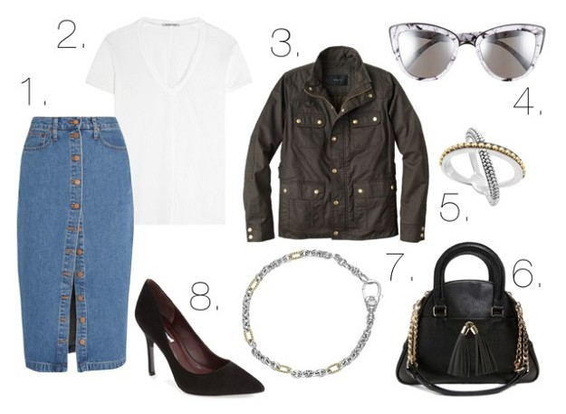 Office Style: How To Incorporate Denim Into Your Office Outfits | Stylish Denim Skirts | Mel Boteri Style Guide