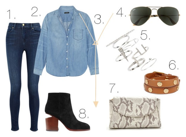 Office Style: How To Incorporate Denim Into Your Office Outfits | Classic Denim Shirts | Mel Boteri Style Guide