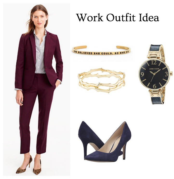 professional outfit suit and accessories
