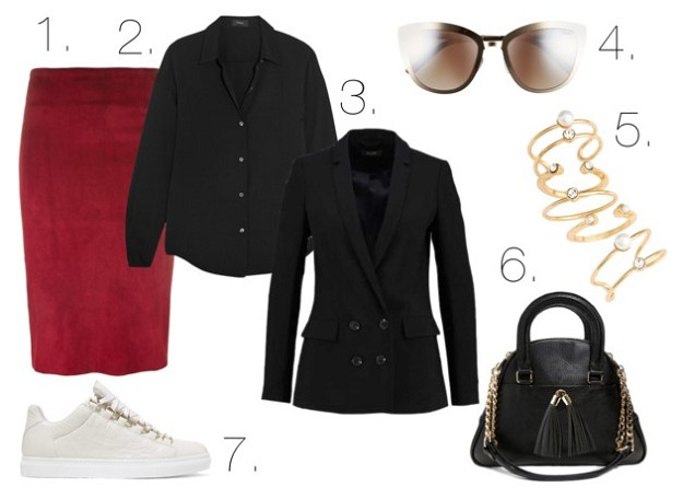 Style Guide: How to Be Fashionable in Burgundy | Burgundy Skirt | Mel Boteri Style Guide