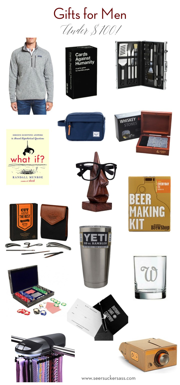 Gift Guide:  Gifts for Men (Under $100!)