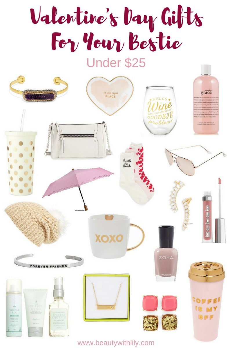 Valentine's Day Gift Ideas For Your Best Friend -- Under $25 | beautywithlily.com