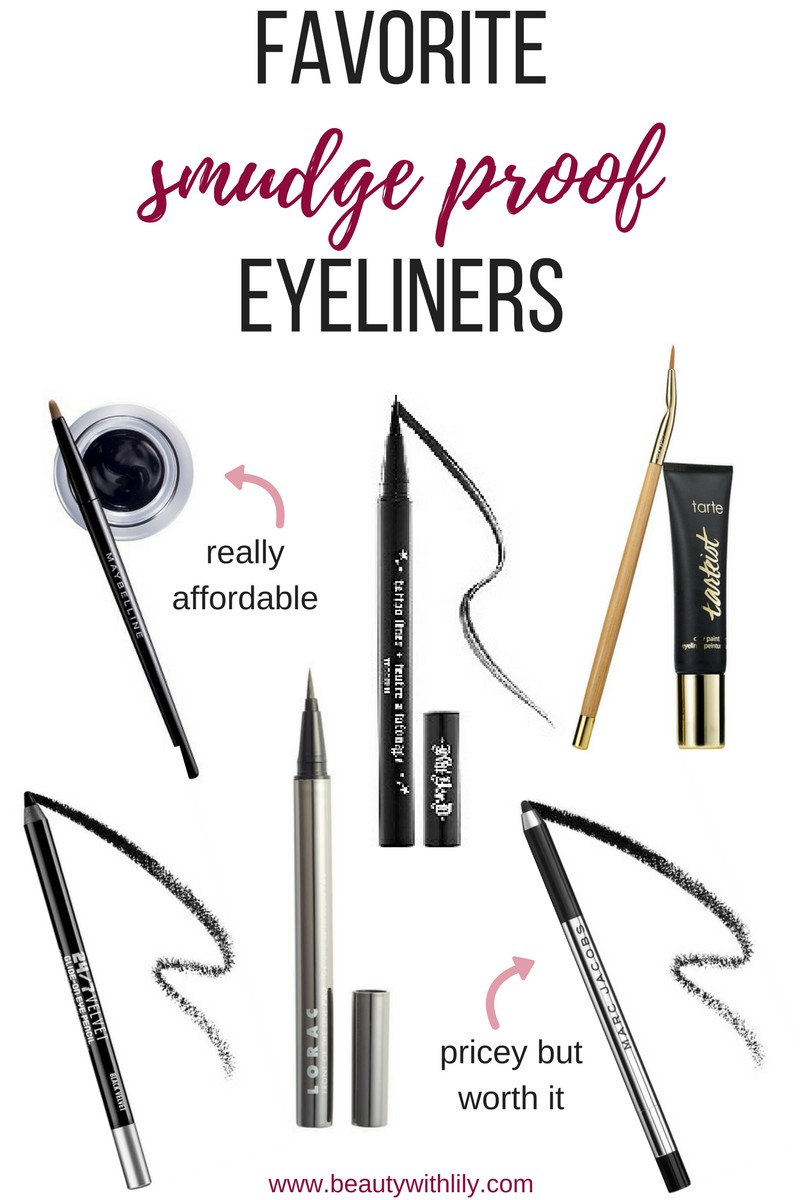 Smudge Proof Eyeliners // Best Eyeliner Formulas for Oily Lids | beautywithlily.com