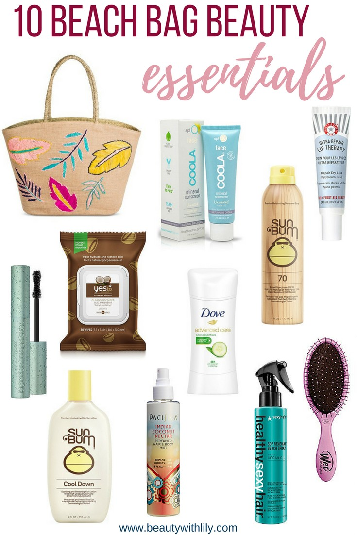Beach Bag Beauty Essentials // Summer Beauty Must Haves | beautywithlily.com