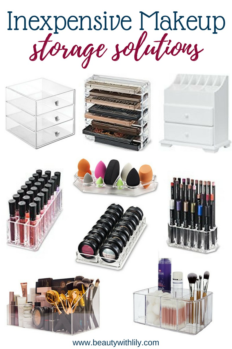 Inexpensive Makeup Storage Solutions Beauty With Lily