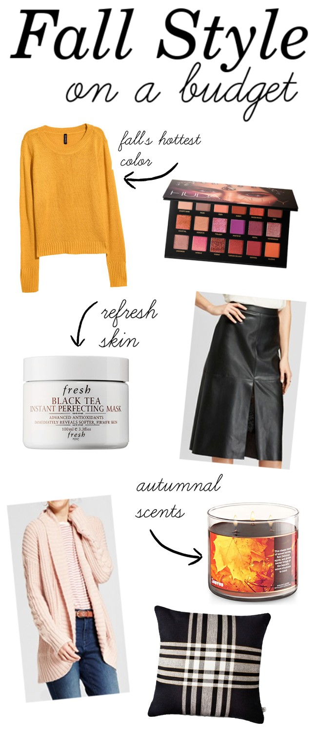Fall Style Updates on a Budget