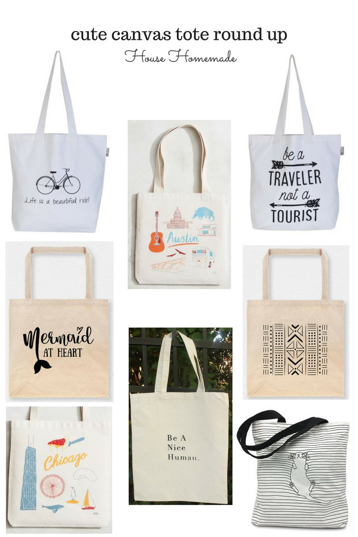Canvas tote round up