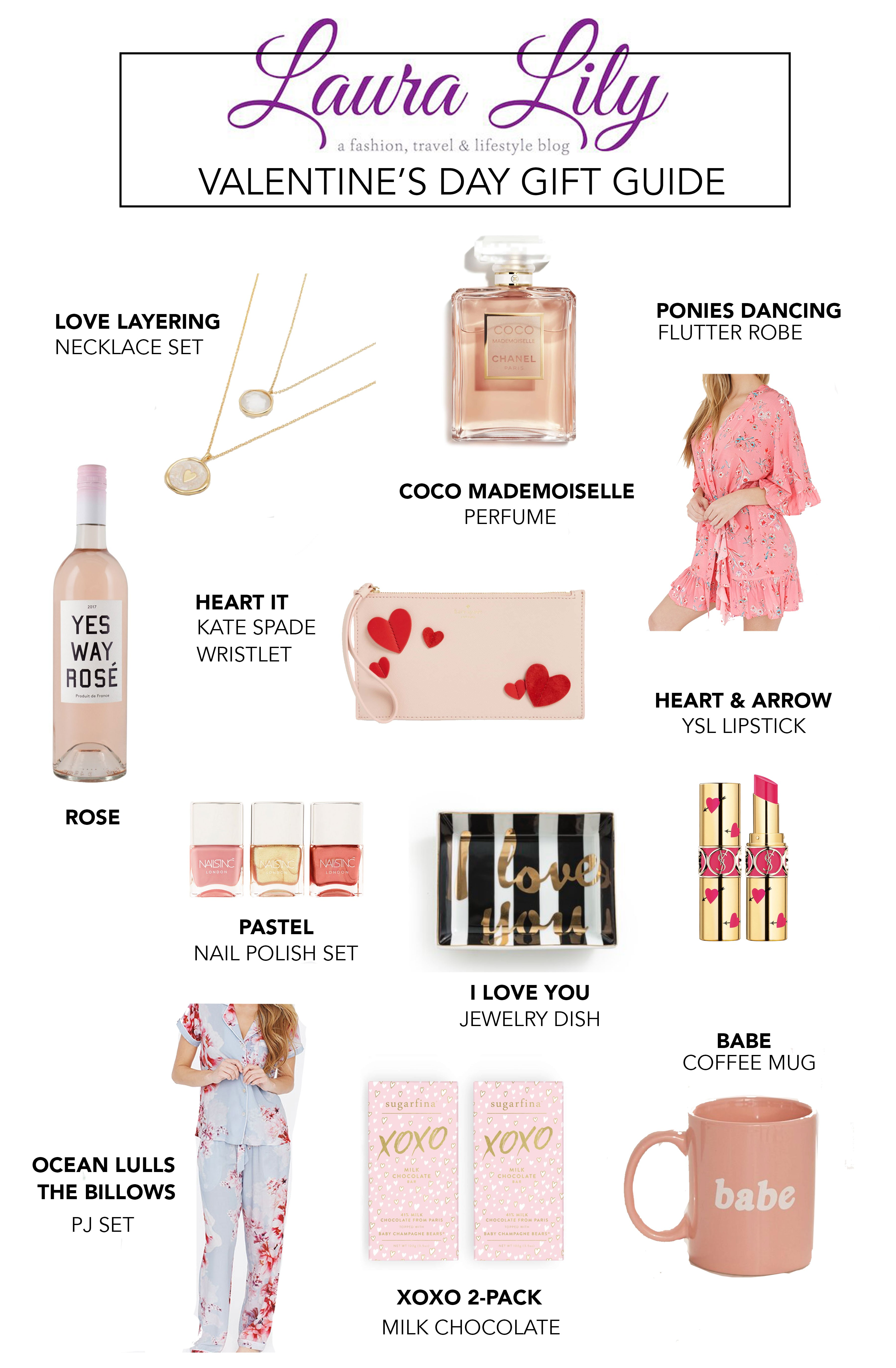 Valentine's Day Gifts for Her featured by top US life and style blogger Laura Lilly