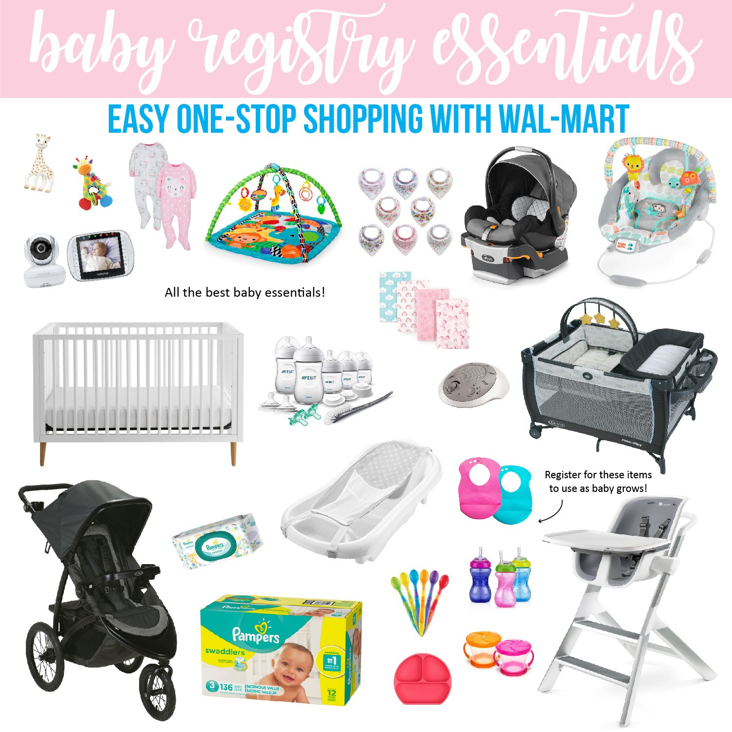 Baby Registry Essentials One Stop Shopping With Wal Mart