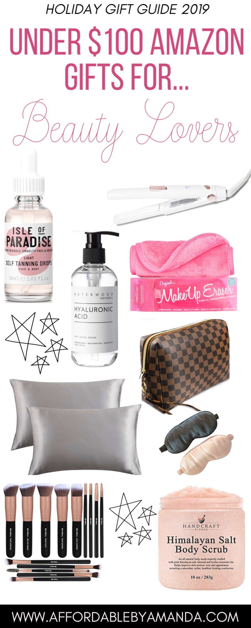 Holiday Gift Guide: Amazon Gifts for Beauty Lovers Under $100   Affordable by Amanda   Gifts for Beauty Lovers for the Holidays 2019