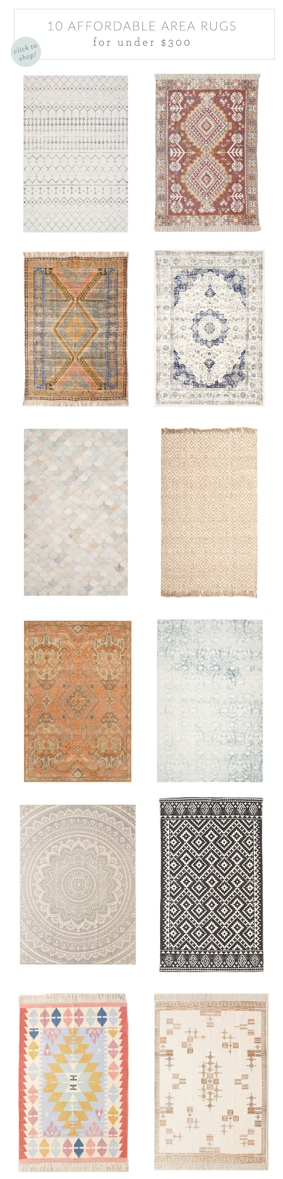 10 affordable area rugs for under $300 | advice from a twenty something Affordable Area Rugs