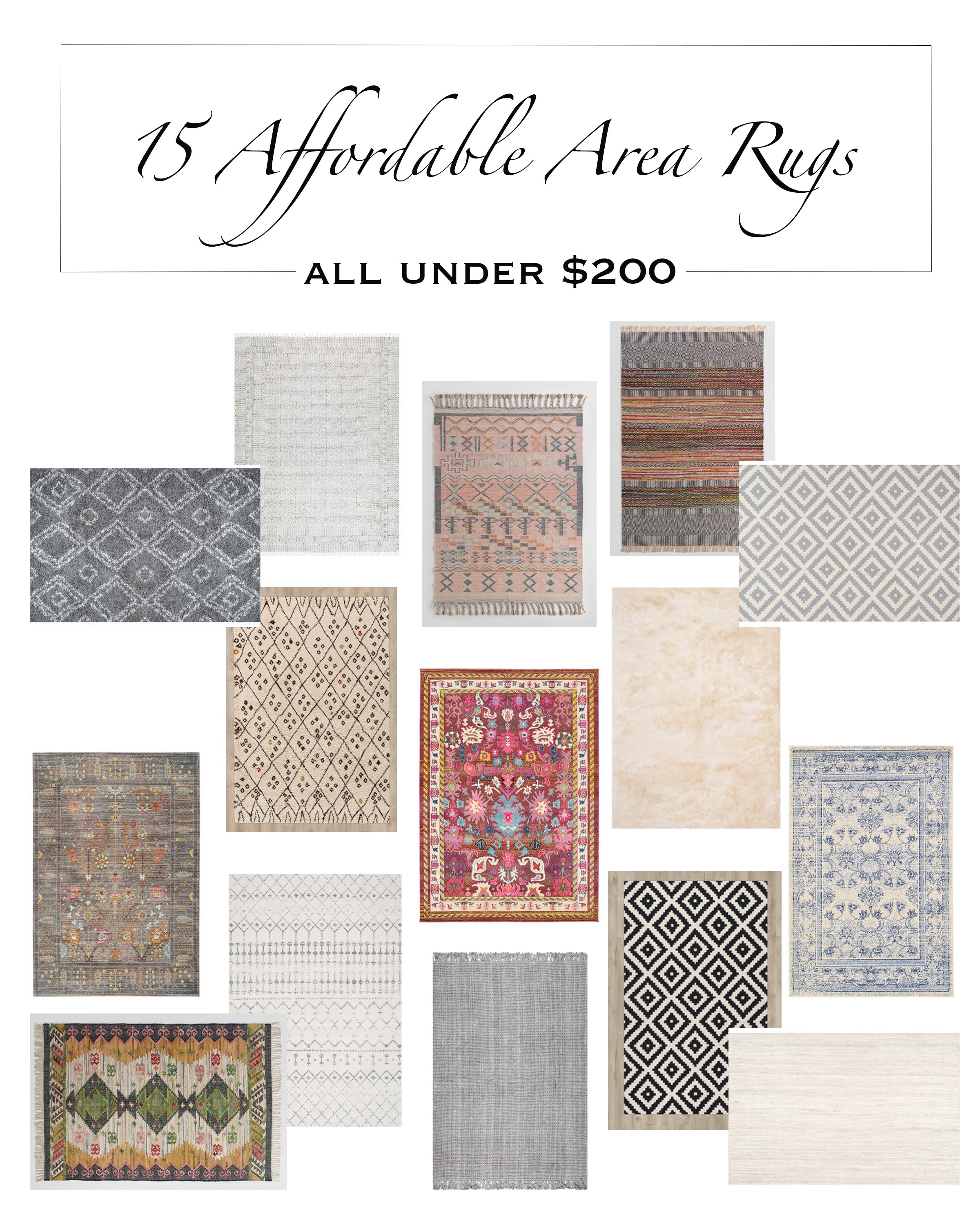 my top 15 affordable area rugs under $200! - addison's wonderland Affordable Area Rugs