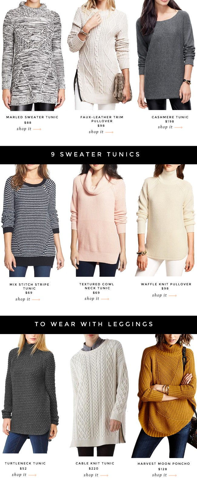 9 Sweater Tunics To Wear With Leggings