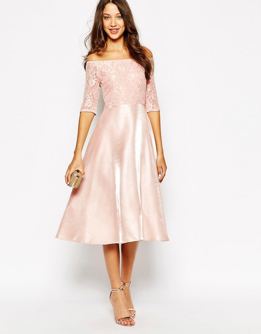 Tea Length or Midi Length Dresses for Weddings