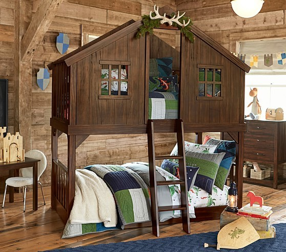 Kids Woodland Bedroom Camping Theme Bedroom
