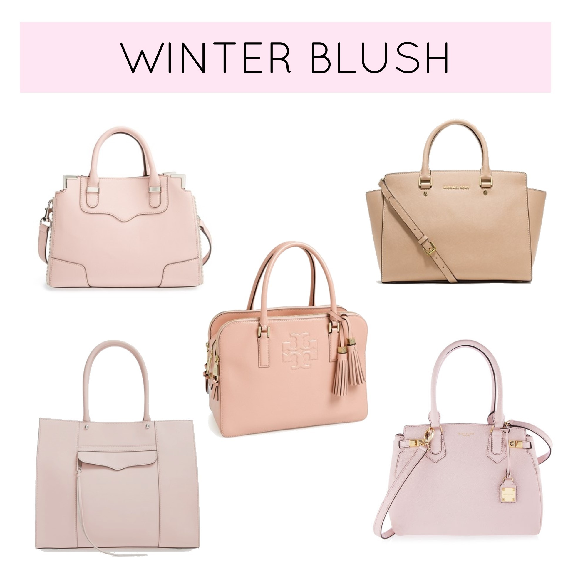 You Might Want To Consider A Blush Pink Bag After All If Audrey Believe In We Should Too