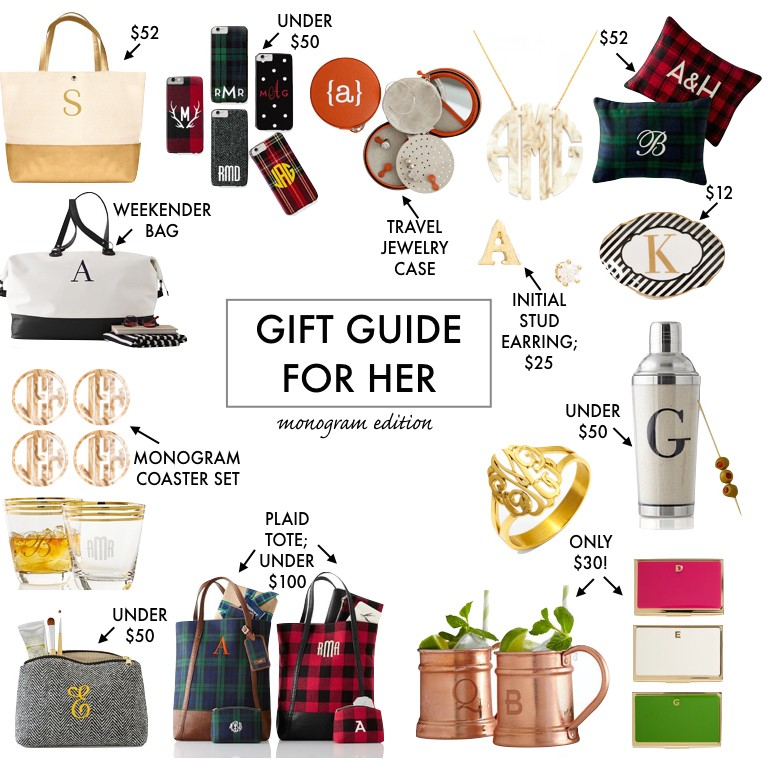 Monogram Gift Ideas Guide For Her