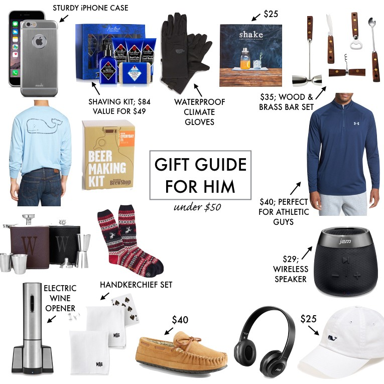 Gift Guide for Him: Under $50 | A