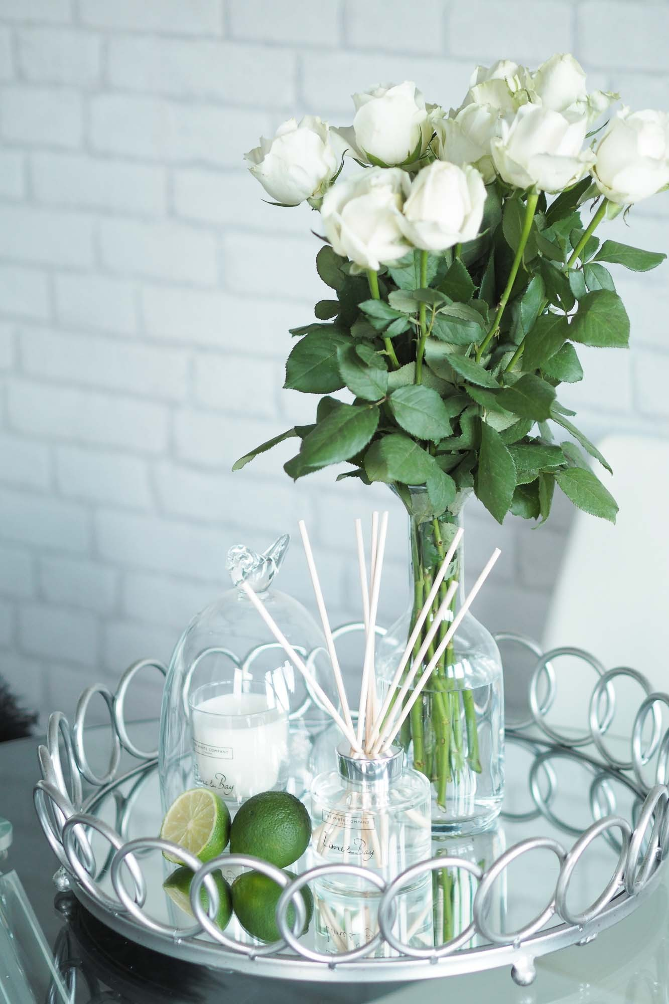 Freshen up your home with lime bay emma hill scented candle the white company reed diffuser the white company bell jar tk maxx similar here silver mirrored loop tray overstock mightylinksfo