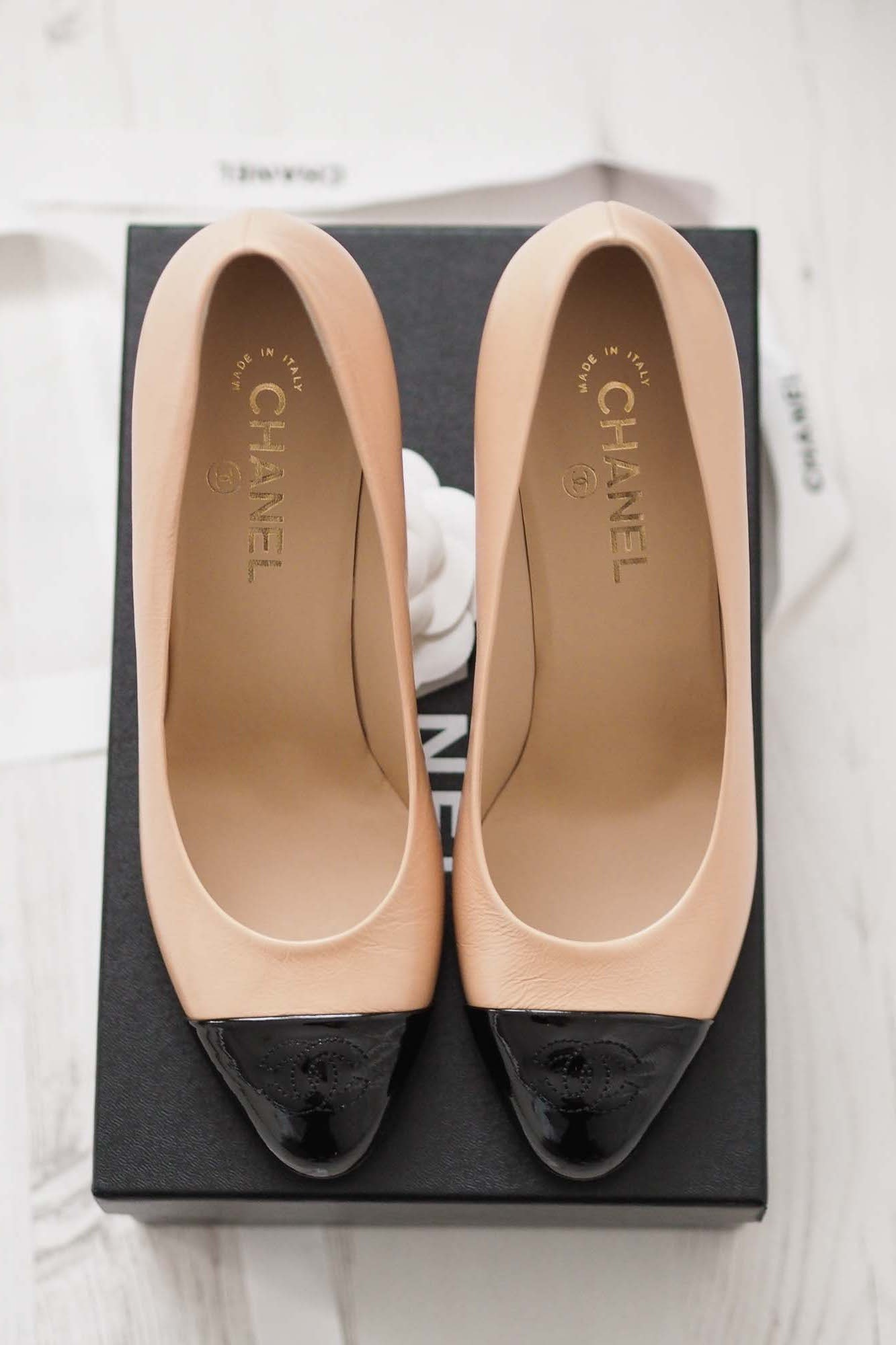 297b539a8 Chanel Beige Court Shoes £420 available in Chanel Boutiques Worldwide,  Harrods & Selfridges (subject to stock)