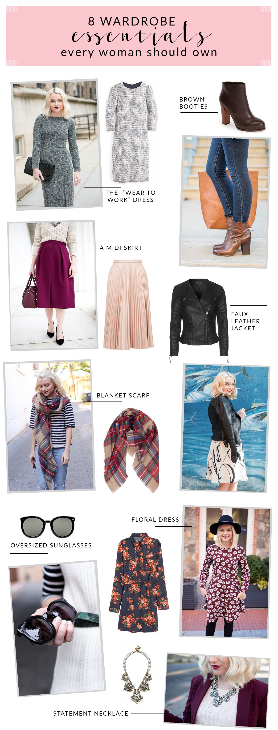 """f3bdb68d52 Every woman has their own list of """"must have"""" items, but after much  consideration, I've determined that this is my list of the 8 Wardrobe  Essentials Every ..."""
