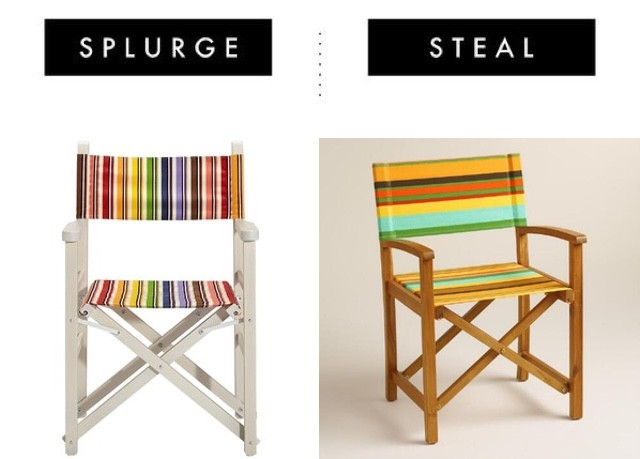 Striped Directors Chair
