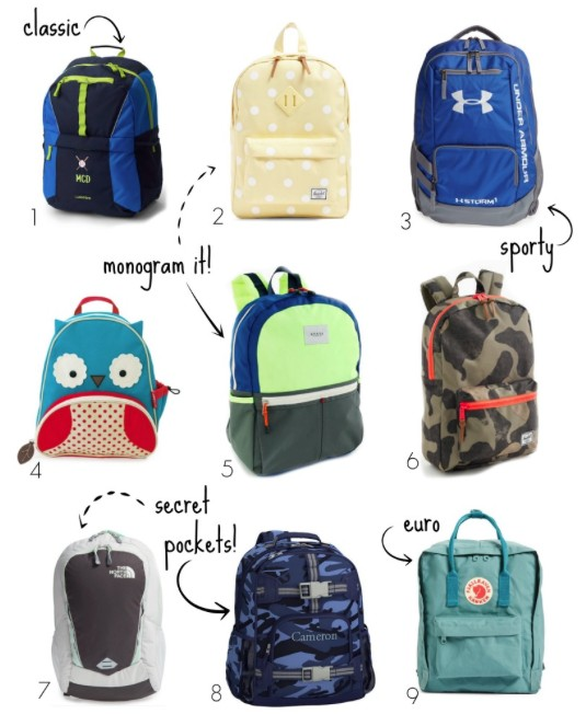 "08cb43d64f Here is a round up of our favorite seriously cool backpacks for kids. Can  you guess which one mine are swooning over  Hint  rhymes with ""thunder  charmer""."