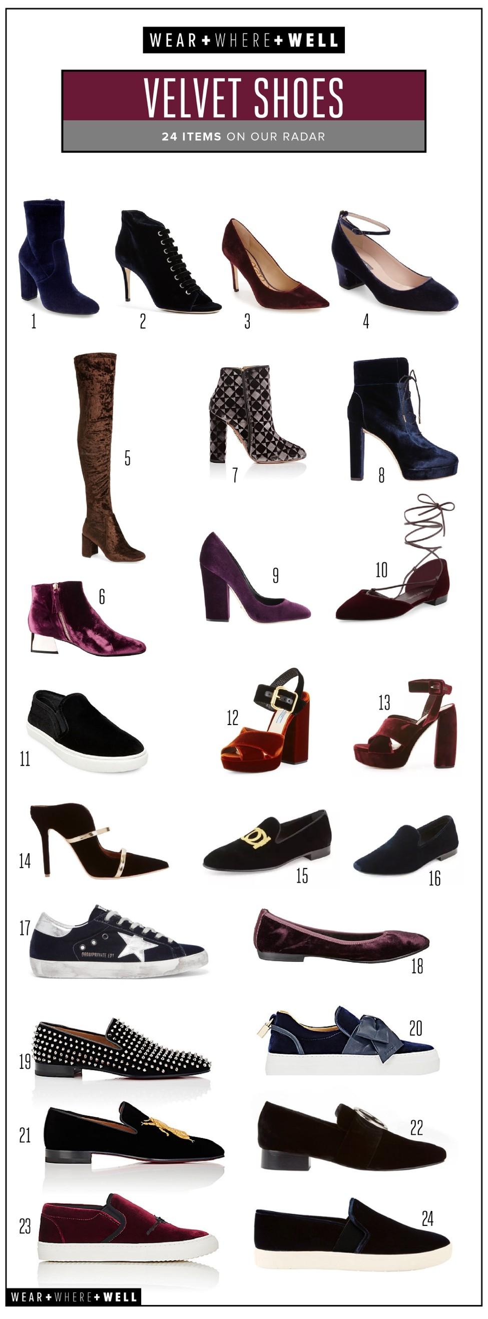 c042b0a61fec 22 Inspiring Ideas for How to Wear Velvet Shoes - Carrie Colbert