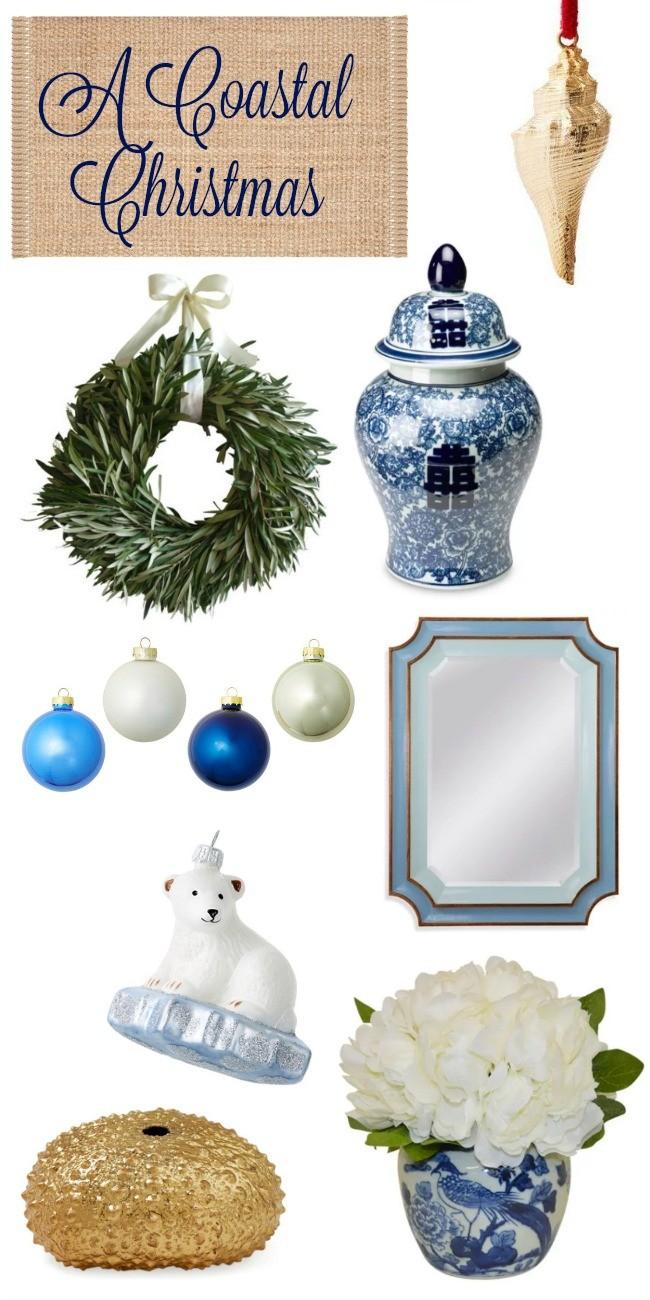 Coastal christmas decor - Coastal Christmas Decor Picks From One Kings Lane