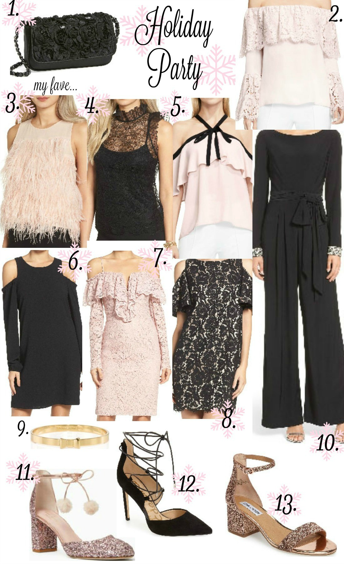 ea2adf518 Below are some of my favorite dresses, tops, clutches, & shoes… You can  click on any image to shop it! Also linking some other favorites below the  collage!
