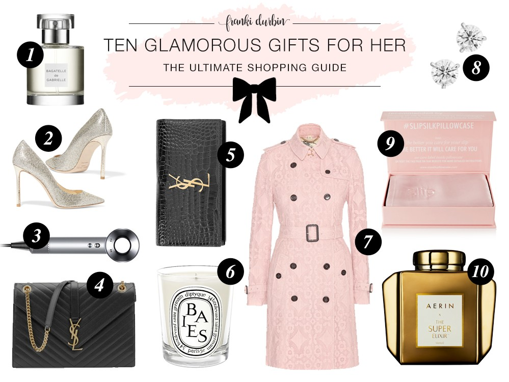 bec95250cbd5ee Honor that by selecting carefully chosen gifts that appeal to her glamorous  feminine preferences. Pro tip: stick to tried and true colors for this ...