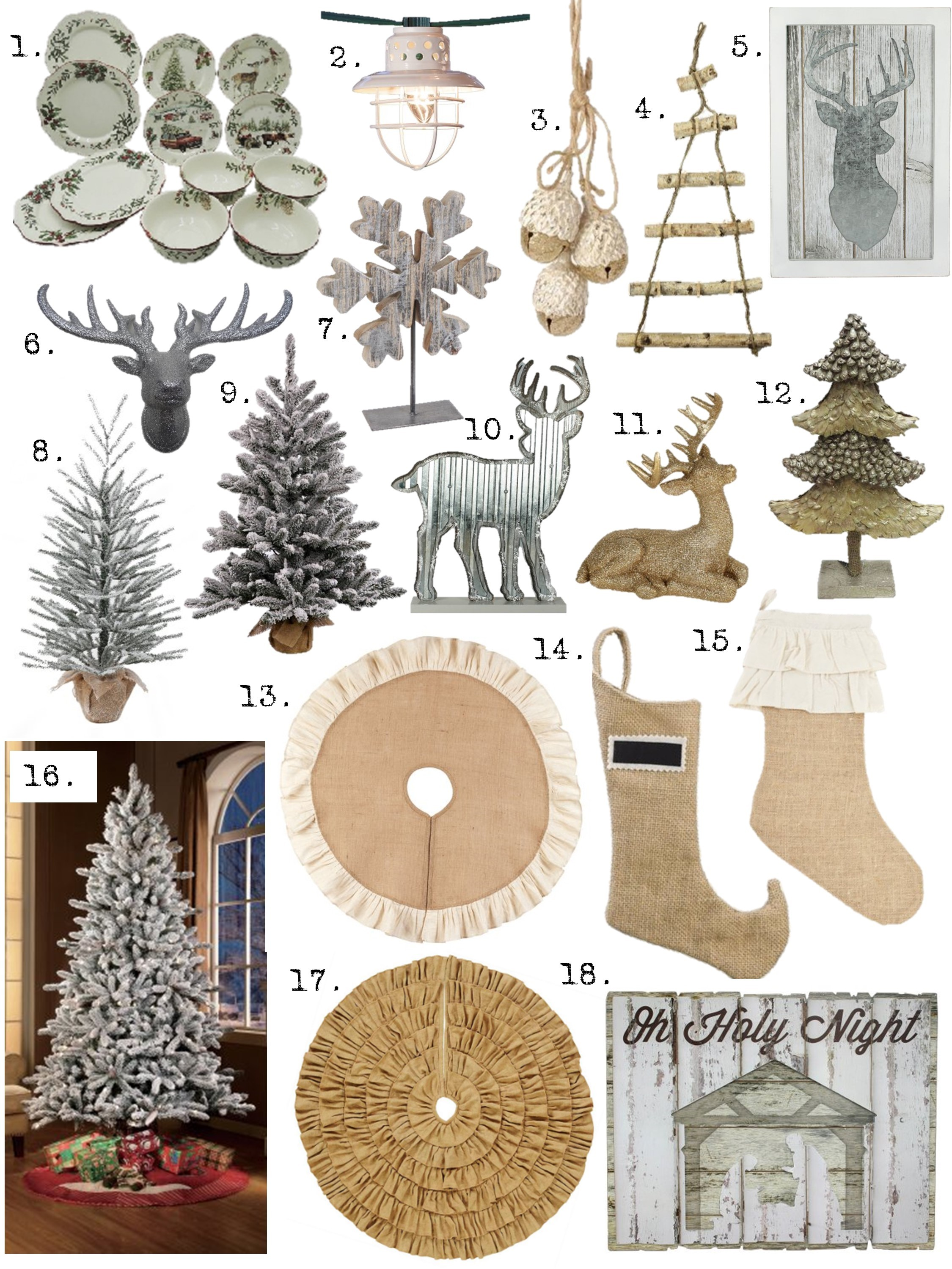 Farmhouse Christmas Decor on a budget - House of Hargrove