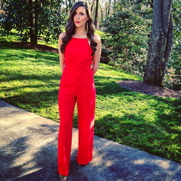 ad92077804a I have no clue why I haven t shared them yet cause they are some of my  favorites. This Black Halo Joaquin jumpsuit in red ...