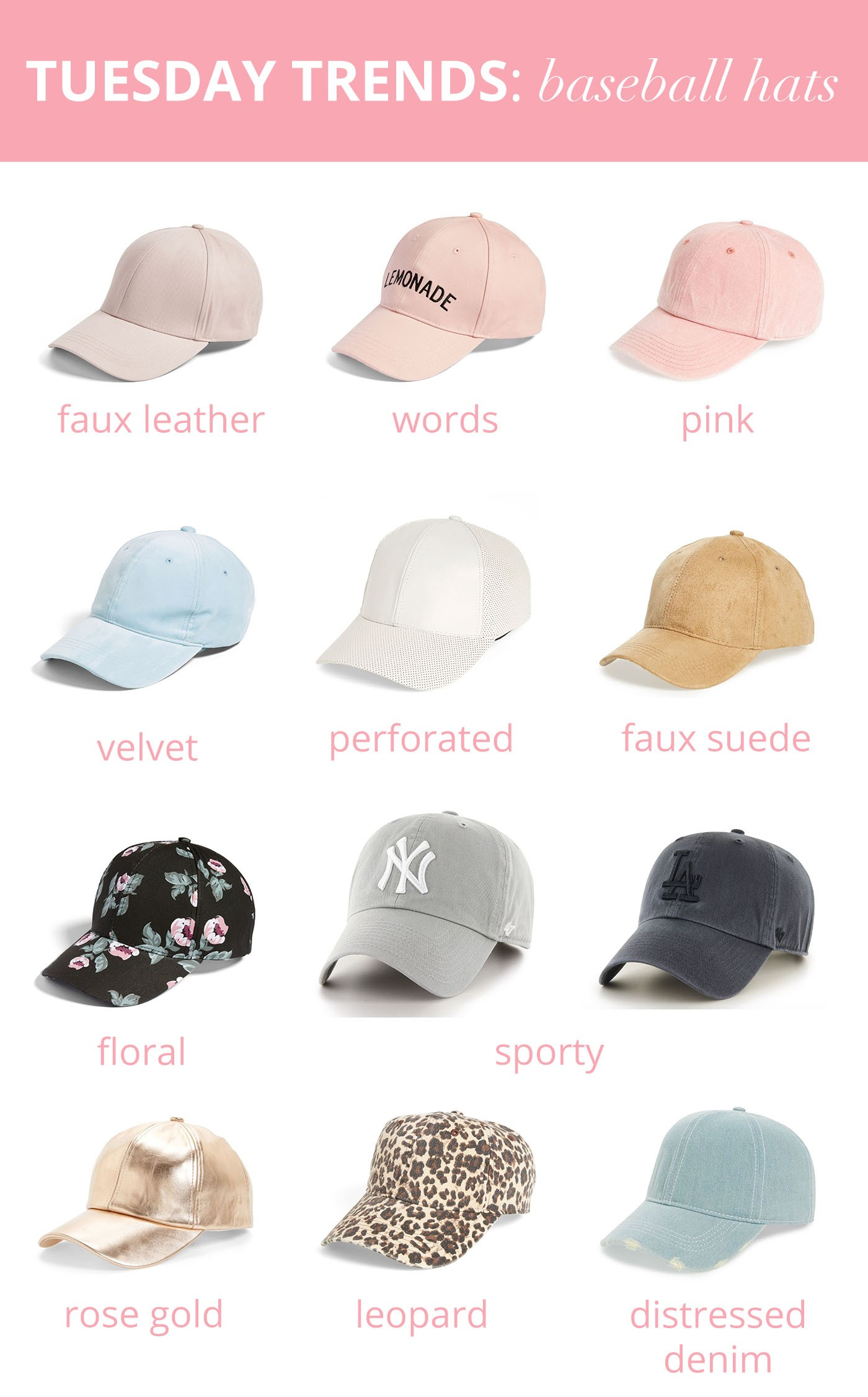 ... the leopard hat would look really cute with a striped T-shirt or olive  green jacket and distressed jeans. What are your favorite baseball hat  styles  9672393b147