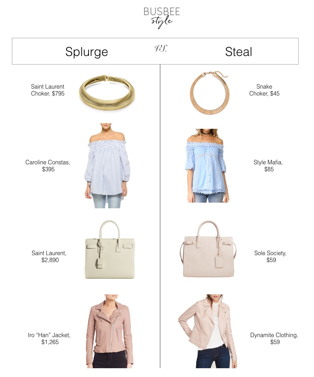 aed6b6eae7f Splurge vs Steal | Spring Fashion Finds 2017 | Erin Busbee
