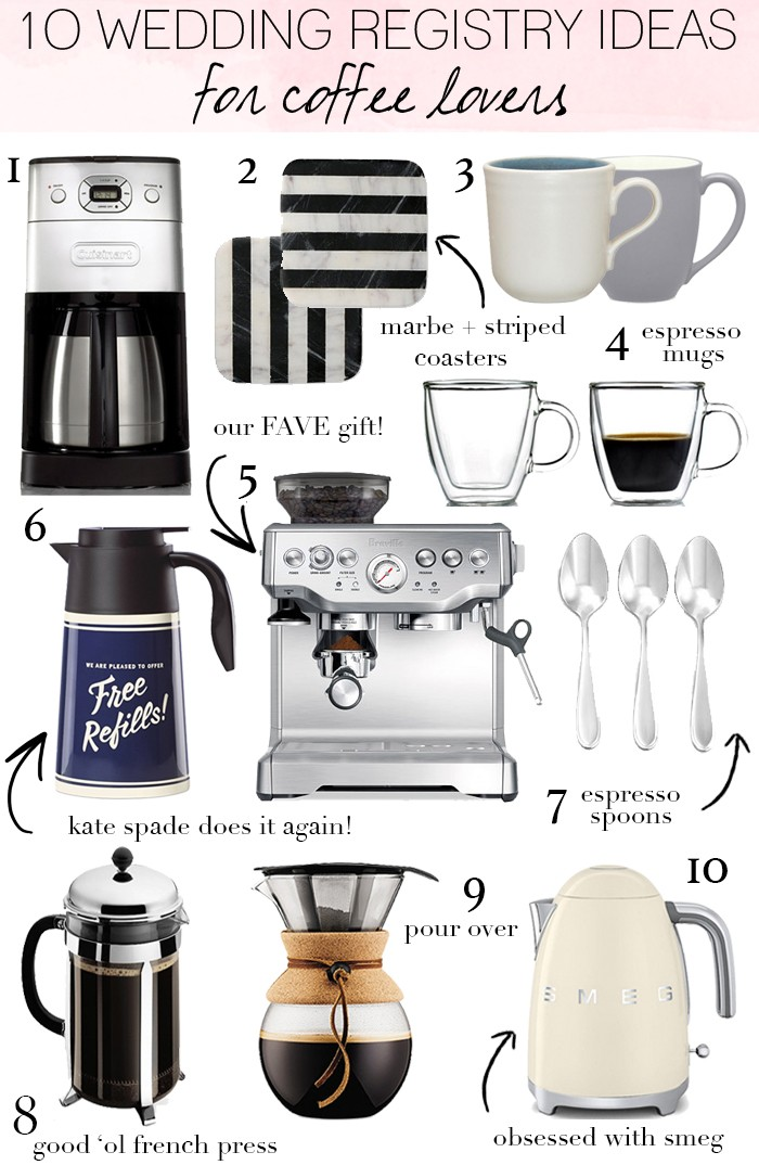 10 Wedding Registry Ideas For Coffee Lovers   LivvyLand | Austin