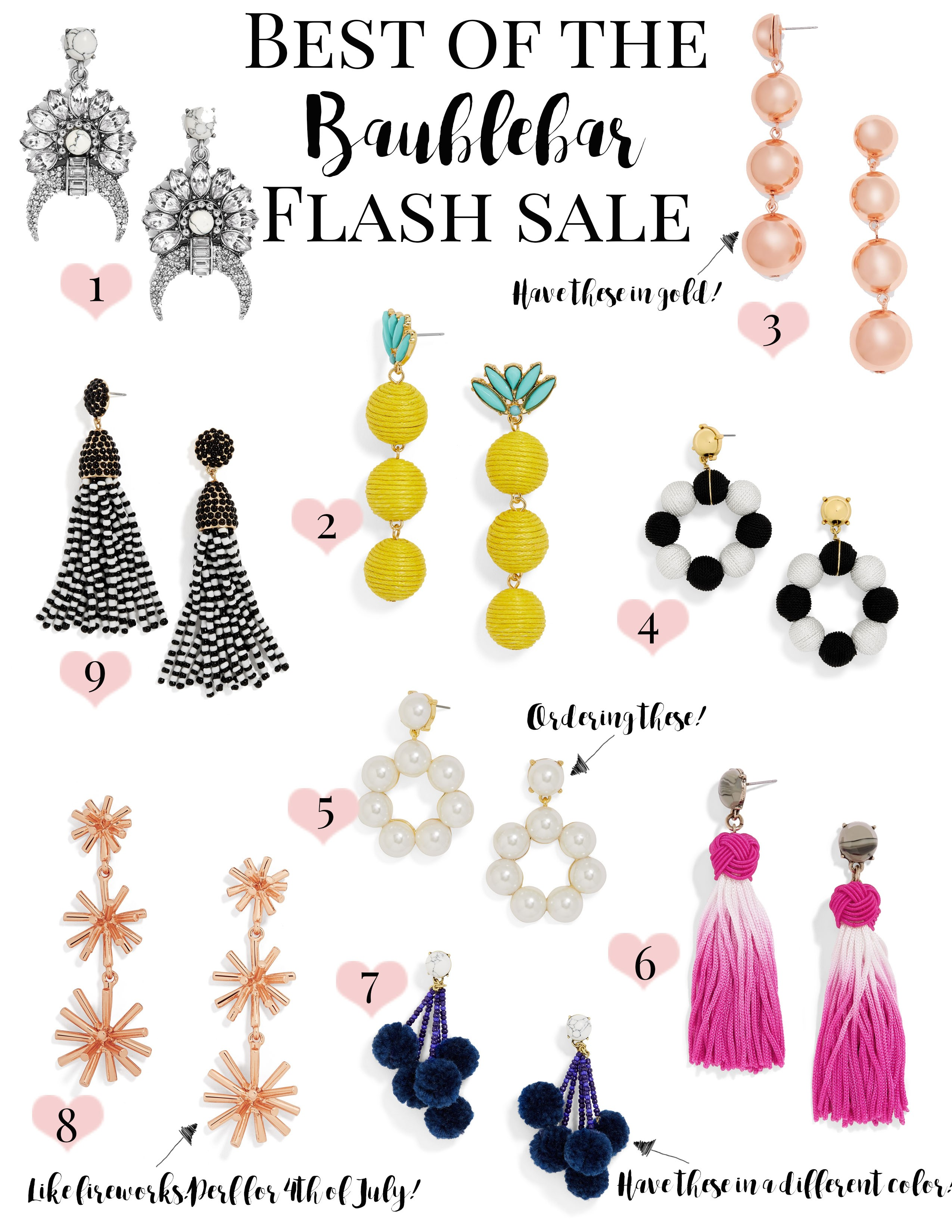 Best of the Baublebar Summer Earring Flash Sale • a Sparkle