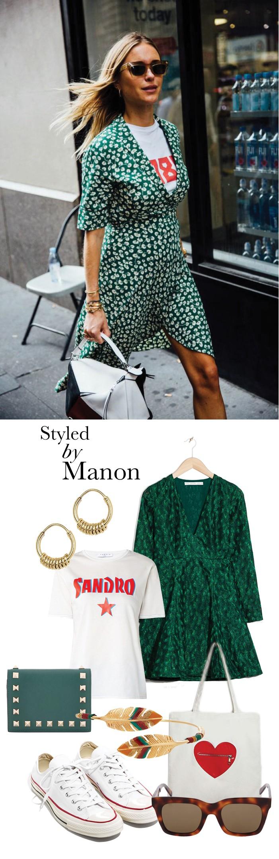a5169d4195e4a3 Styled by Manon - Een t-shirt onder een jurk dragen  Dat doe je zo ...