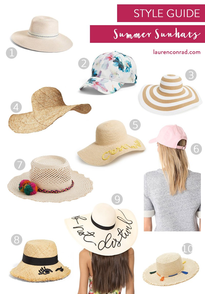 Tuesday Ten  Our Must-Have Summer Sunhats - Lauren Conrad c2ba87bfd7bb
