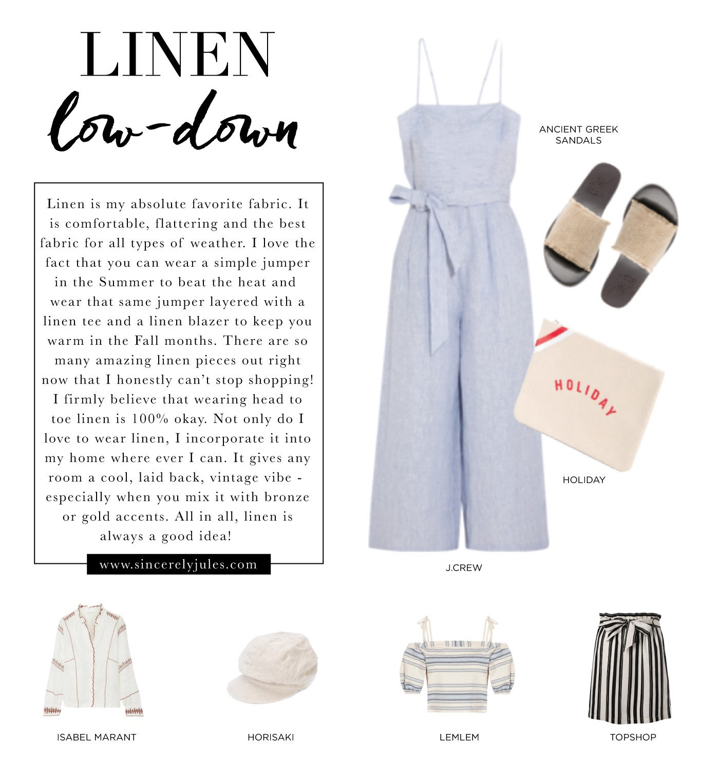 Linen for Summer – Sincerely Jules