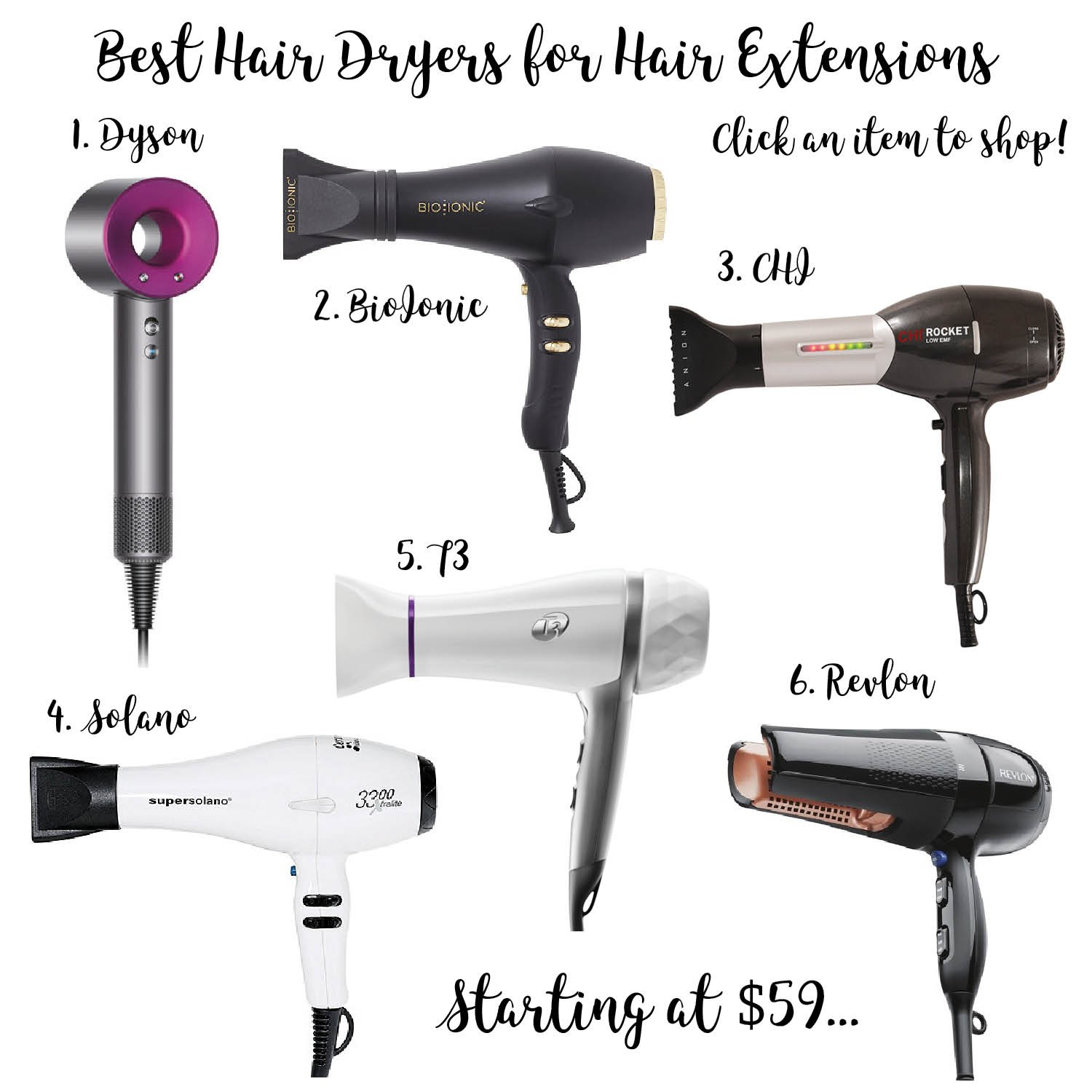 6 Best Hair Dryers For Hair Extensions Review Dressed To Kill