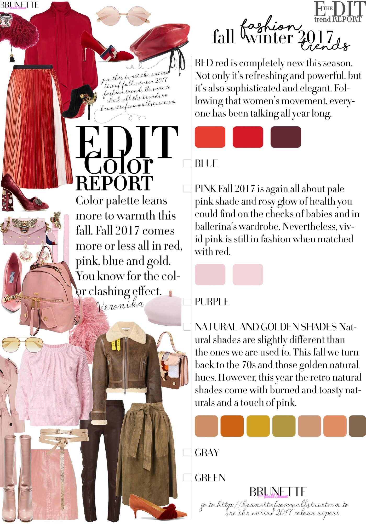 In Short The Color Palette Leans More To Warmth This Fall 2017 Comes Or Less All Red Pink Blue And Gold You Know For Clashing