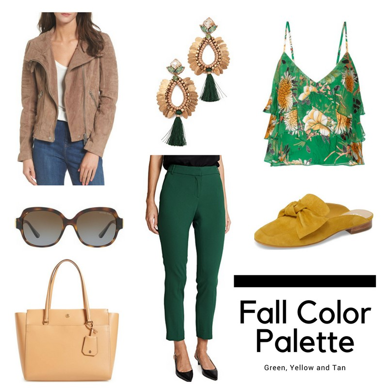 Fall Color Palettes Green Yellow And Burgundy Blush