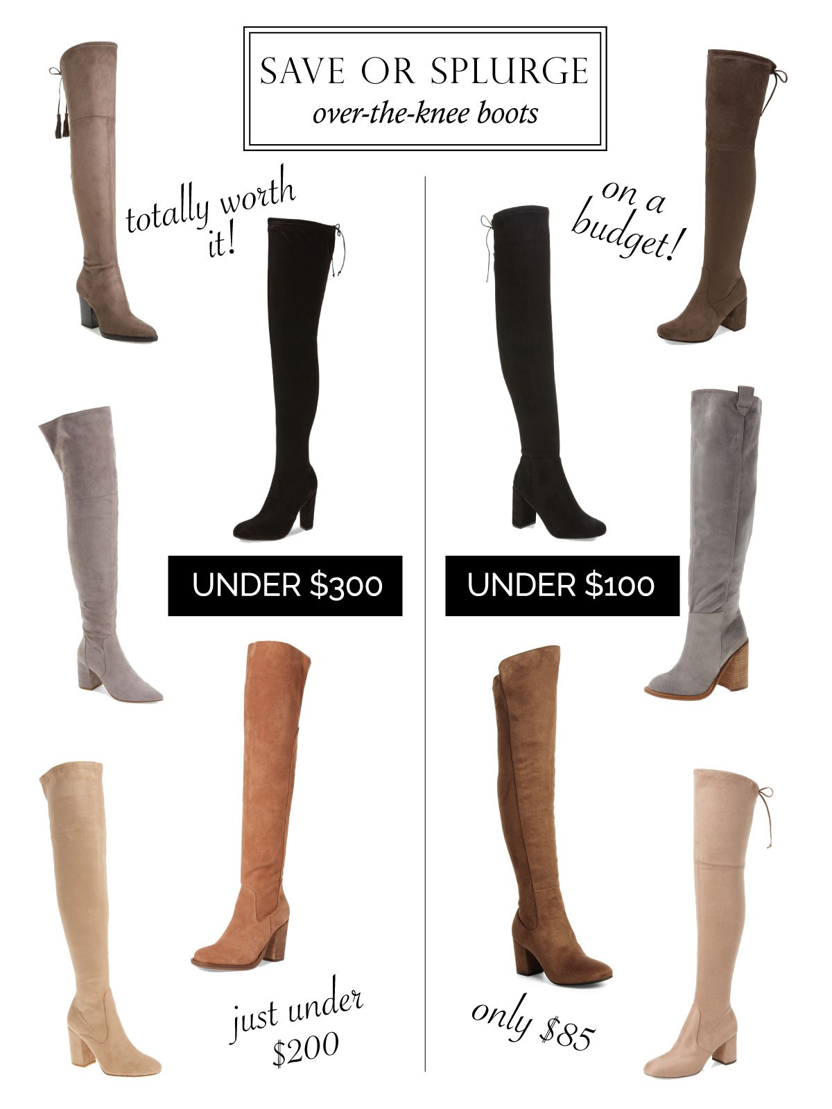 49459fd50e9 ... afford to splurge on the shoes we really really really want which is  why today I m showing you over-the-knee boot options for when you need to  SAVE or ...