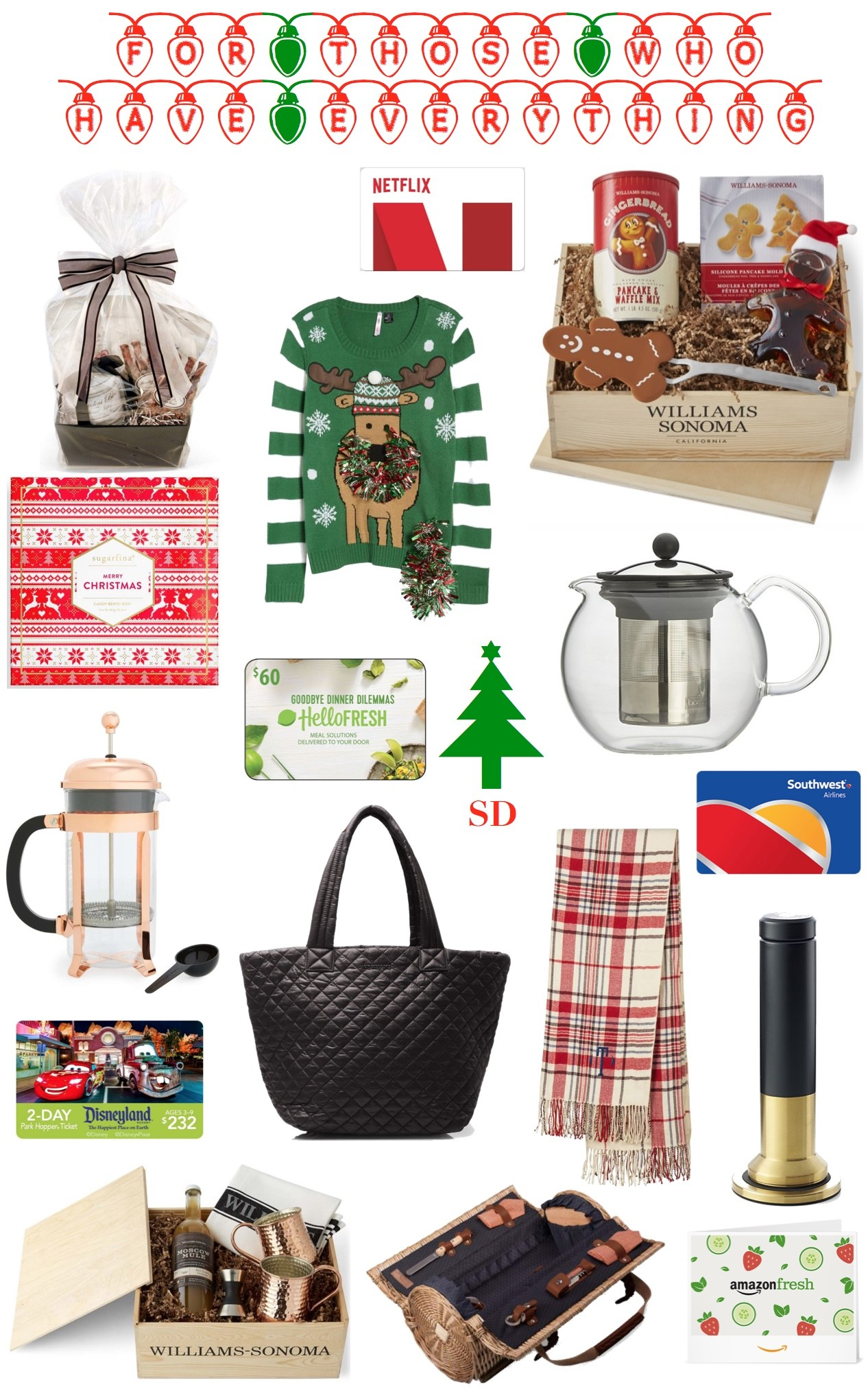 This Gift Guide Took A Lot Of Extra Thought We Tried To Think Really Hard And Be Creative Help You Out For The Person In Your Life Who Has Everything