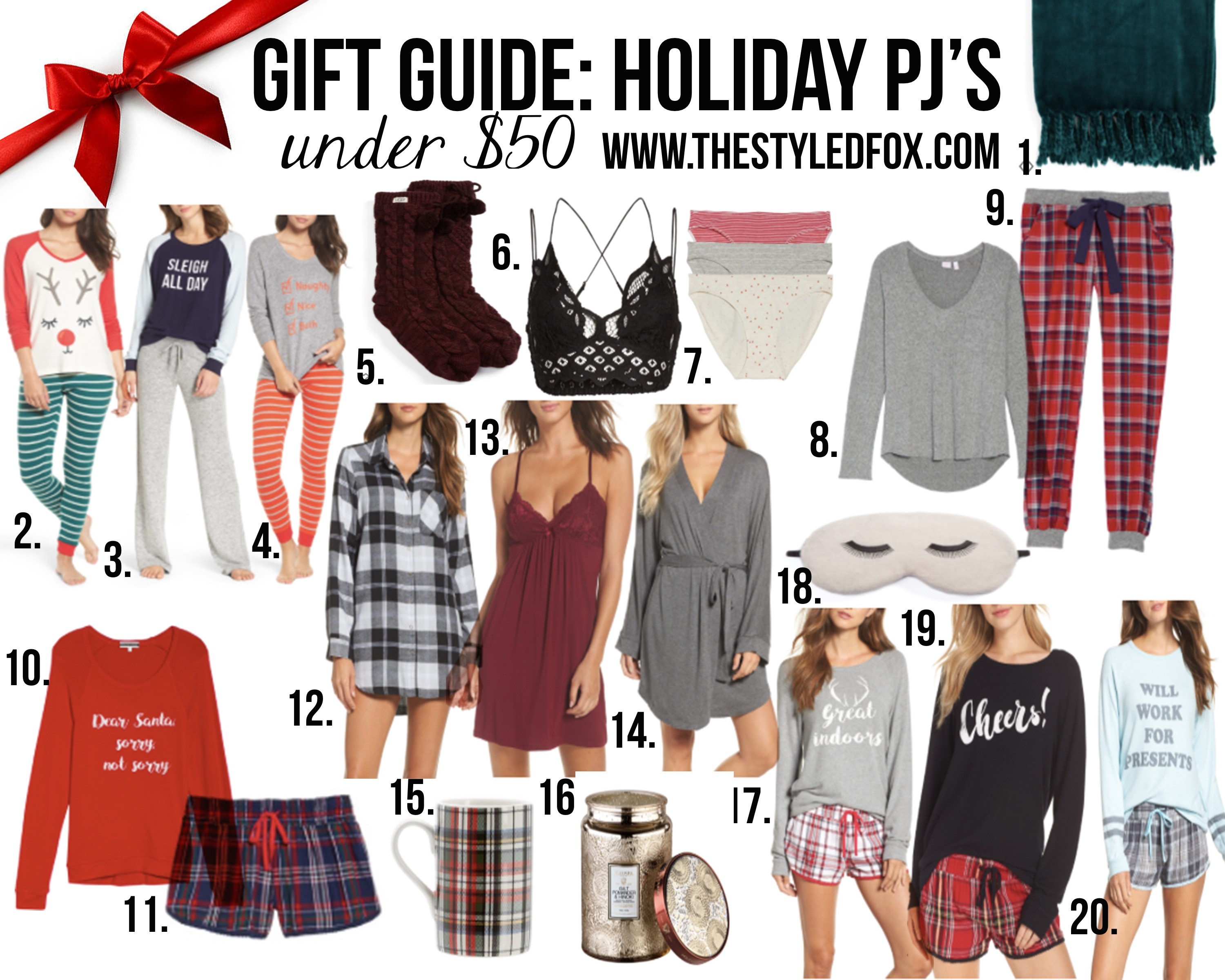 2017 HOLIDAY PAJAMAS GIFT GUIDE UNDER  50 f34a09a74