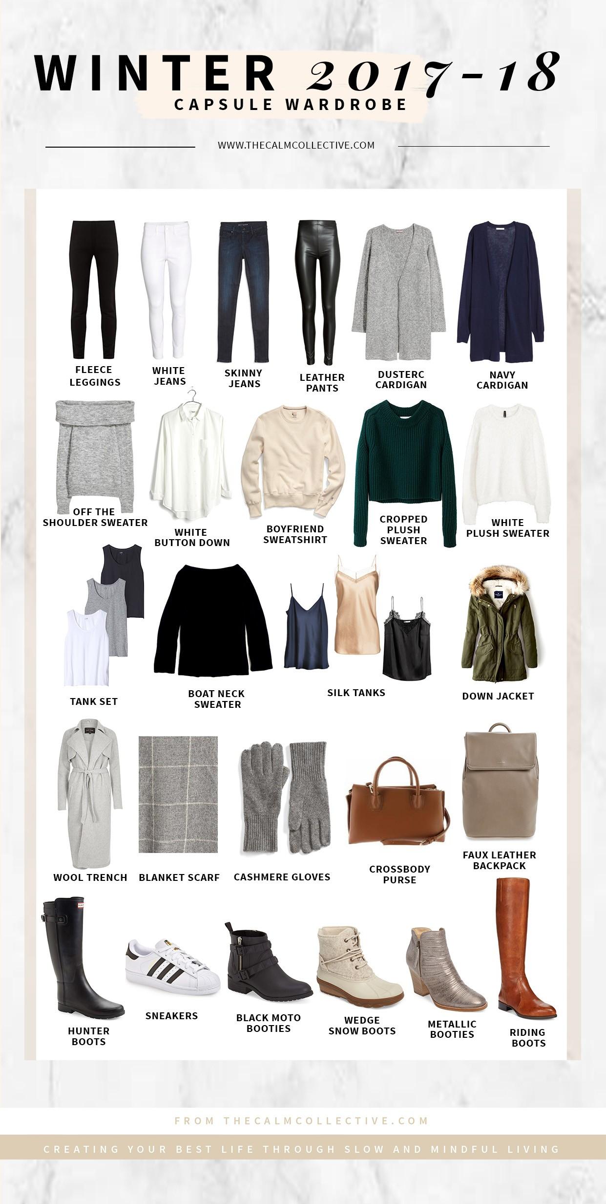5e5959e8253 Winter Capsule Wardrobe For 2017 and 2018 - The Calm Collective