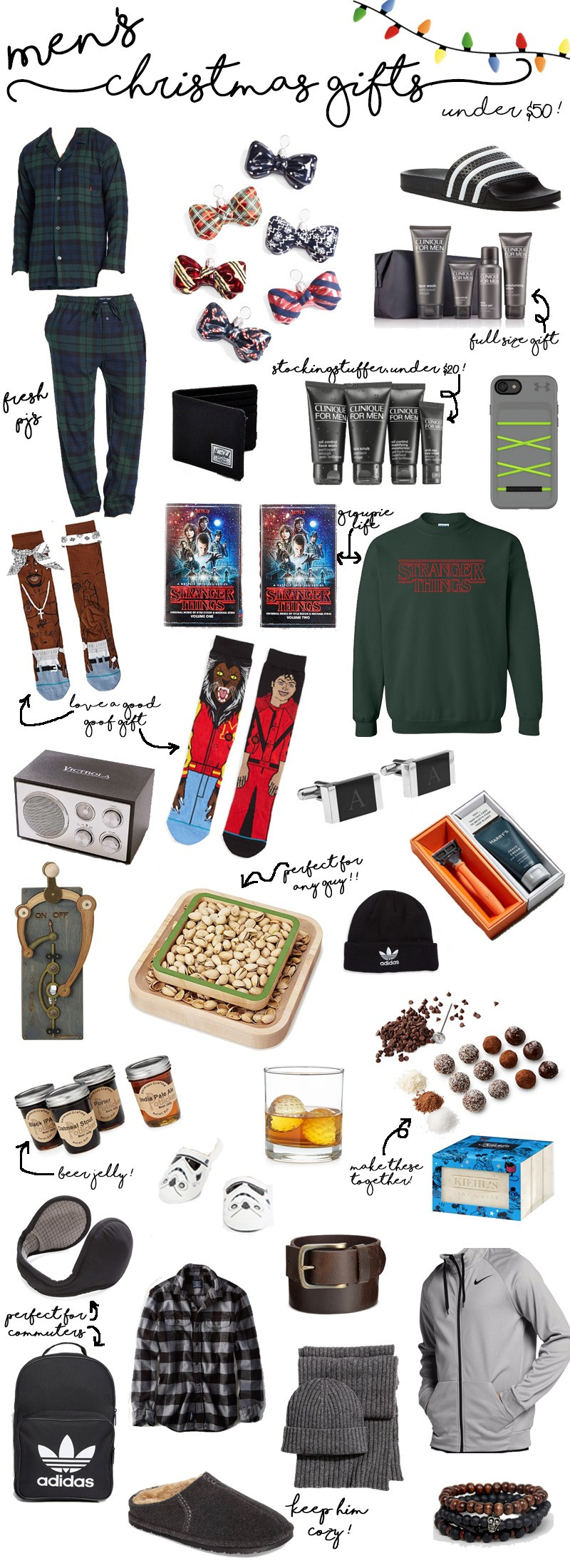 Men's Holiday Gifts Under 50 Dollars